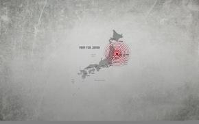 Обои амплитуда, острова, землетрясение, pray for japan