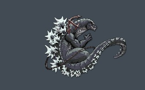 Картинка монстр, динозавр, хвост, Годзилла, Godzilla, якорь