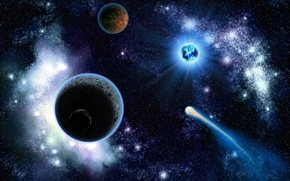 Картинка космос, планеты, красота