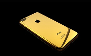 Обои gold, Apple, iPhone, smartphone, iPhone 7 gold, 24k Gold Elite, iPhone 7