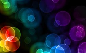 Картинка круги, абстракция, цветная