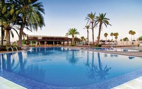 Картинка пальмы, Canary Islands, курорт, бассейн