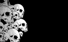 Картинка чёрный, Череп, черепа