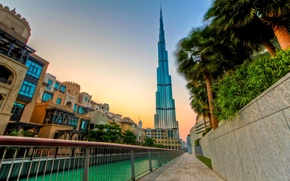 Картинка вечер, Дубай, ОАЭ, Бурдж-Халифа