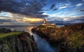 Картинка ocean, seascape, lighthouse, Fanad Head Ireland