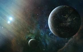 Картинка stars, planets, sci fi