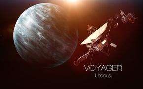 Обои Voyager, Uranus, satellite