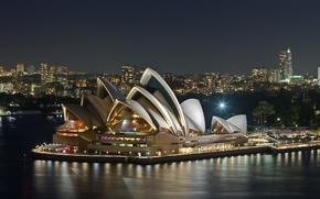 Картинка вечер, опера, австралия