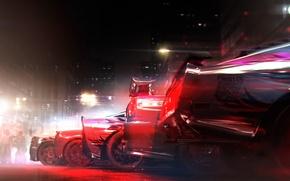 Картинка гонка, McLaren MP4, Ford Mustang, Chevrolet Corvette, race, Nissan Skyline, GRID 2, Pagani Huayra