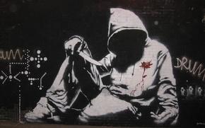 Картинка Graffiti, Banksy, Hoodie