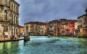 Картинка здания, дома, Италия, Венеция, канал, Italy, гондола, Venice, Italia, Grand canal