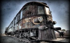 Картинка дорога, фон, поезд
