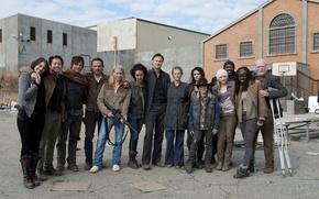 Картинка команда, сериал, актеры, The Walking Dead, Ходячие мертвецы