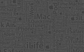 Картинка надписи, apple, текстура
