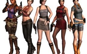 Картинка оружие, девушки, тату, game, resident evil