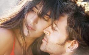 Картинка лето, девушка, любовь, улыбка, музыка, фантазия, романтика, волосы, красота, парень, красивые