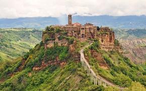 Картинка Italy, Umbria, Civita di Bagnoregio