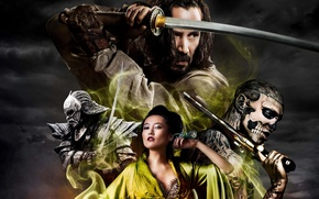 Картинка меч, катана, Япония, самурай, Japan, sword, katana, Киану Ривз, samurai, Keanu Reeves, 47 Ronin, 47 ...