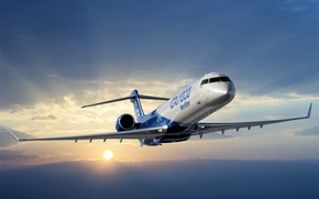 Картинка Bombardier, New Aircraft, CRJ 1000 Next Gen