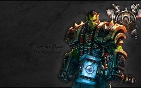 Картинка horde, wow, warcraft, молот, hammer, тралл, thrall, орда