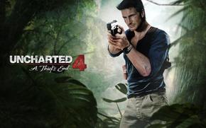 Картинка пистолет, мужчина, game, fan art, Nathan Drake, Naughty Dog, PlayStation, PS4, Uncharted 4: A Thief's …