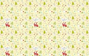 Картинка Дед Мороз, Новый год, текстура, настроение, елка, фон, праздник, подарки, снеговик