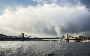 Картинка небо, город, будапешт