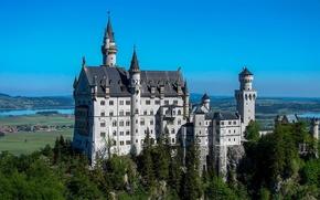 Картинка Нойшванштайн, castle, Германия, Бавария, Neuschwanstein, замок