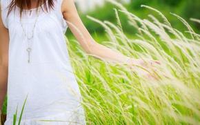Картинка зелень, трава, девушка, обои, настроения, сердце, рука, ключ, кулон, сердечко, полноэкранные, HD wallpapers, ключик, фон. …