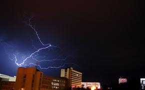 Картинка storm, night, flash, Czech Republic, Pardubice
