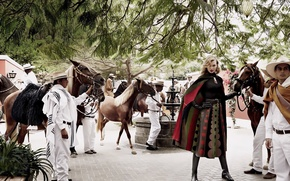 Картинка лошади, мексика, Vogue, Karlie Kloss