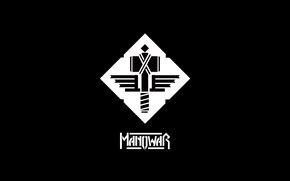Картинка hammer, heavy metal, minimalism, manowar, logo