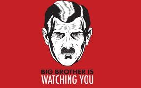 Картинка усы, 1984, большой брат, оруэлл, слежка, big brother