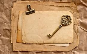 Картинка старые, ключ, vintage, страницы, винтаж, бумаги, пожелтевшие
