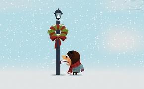 Картинка холод, зима, язык, снег, человек, новый год, рождество, столб, фонарь, new year, merry christmas, примерз