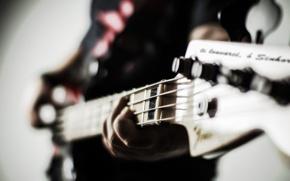 Картинка макро, фото, игра, гитара, гитарист, guitar, бас, Bass