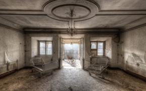 Картинка комната, окна, палата