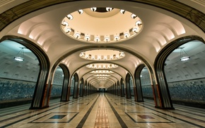 Картинка московский метрополитен, станция Маяковская, Замоскворецкая линия