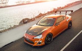 Картинка тюнинг, Toyota, tuning, orange, Scion, сцион, fr-s, фр-с