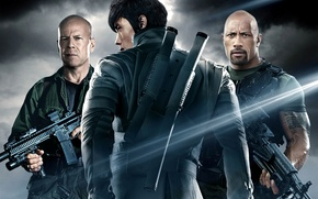 Обои G.I. Joe: Retaliation, G.I. Joe: Бросок кобры 2, Joe Colton, Dwayne Johnson, Ли Бён Хон, ...