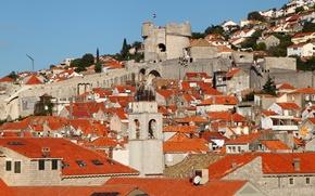 Картинка крыша, дома, склон, Хорватия, Дубровник