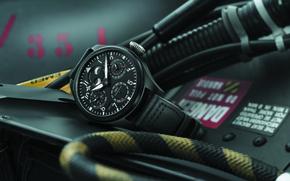Картинка часы, кабель, IWC, Pilot's, стильные