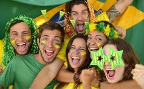 Картинка Футбол, Brasil, FIFA, Болельщики, Football Fans