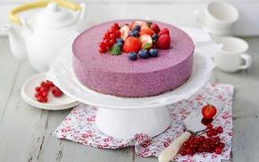 Обои торт, cream, food, cake, десерт, dessert, сладкое, черника, малина, raspberry, крем, fruits, cheesecake, фрукты, еда, ...