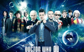 Картинка взгляд, космос, звезды, улыбка, арт, актеры, Doctor Who, мужчины, Доктор Кто, тардис, tardis