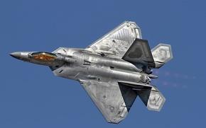 Картинка небо, оружие, F-22 Raptor