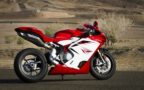 Картинка красный, тень, red, вид сбоку, bike, мв агуста, мотоциклк, mv agusta