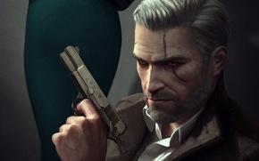 Картинка Ведьмак, Геральт, CD Projekt RED, The Witcher 3: Wild Hunt, Geralt, Ведьмак 3: Дикая Охота