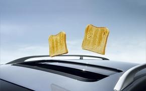 Обои авто, хлеб, необычно