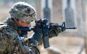 Картинка оружие, армия, солдат, Georgia National Guard